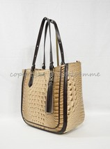 NWT  Brahmin Medium Lena Leather Tote/Shoulder Bag in Travertine Vermeer - $339.00