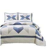 Kasentex 100% Cotton Decorative Bedspread With Floral Patchwork Design - $169.99