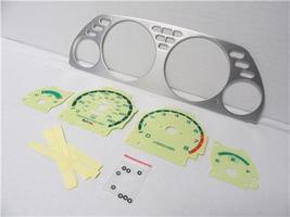 1990-1993 Acura Integra Manual Aluminum Bezel & Glow Through Yellow Face... - $28.99