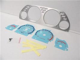 1990-1993 Acura Integra Manual Aluminum Bezel & Glow Through Blue Face G... - $28.99