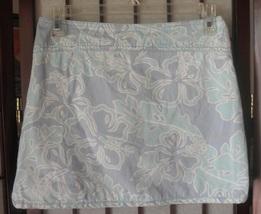 girls skort light blue floral old navy size 12 - $12.00