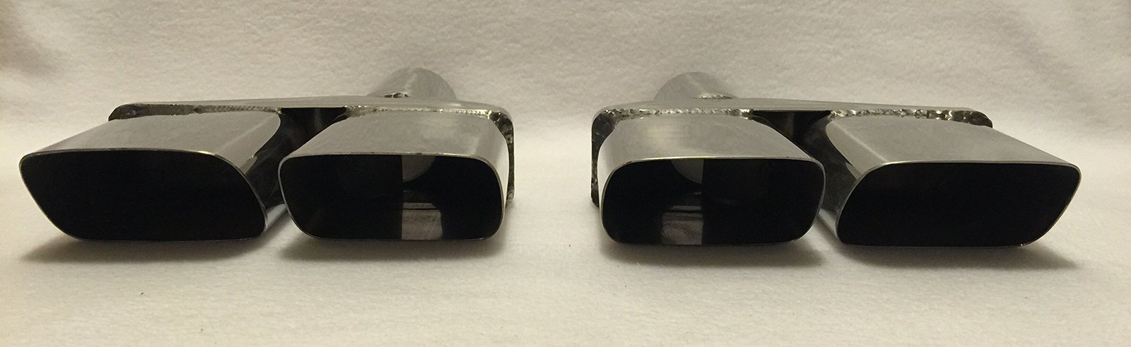 "2.5"" POLISHED STAINLESS STEEL CHALLENGER DUAL EXHAUST TIPS - PAIR"