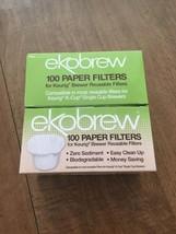Ekobrew 200 Paper Filters For Keurig Reusable Cups - $17.74