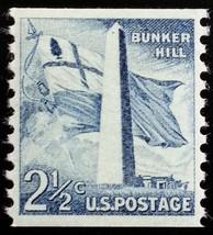 1959 2 1/2c Bunker Hill, Coil Scott 1056 Mint F/VF NH - $1.29