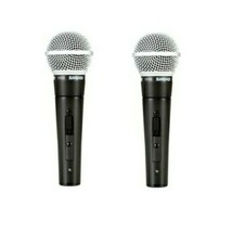2 Shure SM58-S Cardioid Dynamic Vocal Microphone with Off / On Switch - $208.00