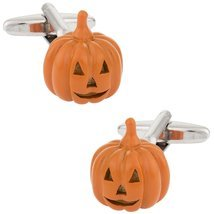 Jack O Lantern Pumpkin Halloween Cufflinks - $24.99