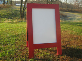 Dry erase rustic sidewalk board, distressed modern farmhouse double side... - $90.00