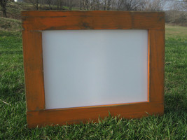 Rustic orange dry erase board distressed hanging dry erase office white ... - $40.00