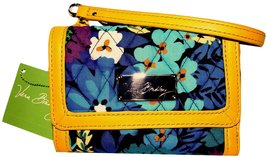 Vera Bradley Anniversary Wristlet in Midnight Blues and Yellow Leather - ₨4,422.08 INR