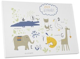 "Pingo World 0722Q9SUCQ4 ""Zoo Alphabet Animals I Children Kids"" Gallery W... - $53.41"