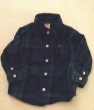 Carter's Baby Boys Green Plaid Shirt Size 9 Months Button Down  - $7.69