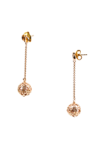 """Authentic Christian Dior Gold Tone & Resin Bead """"Secret Cannage"""" Drop Earrings image 2"""