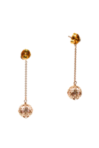 """Authentic Christian Dior Gold Tone & Resin Bead """"Secret Cannage"""" Drop Earrings image 3"""