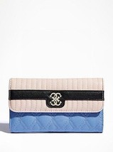 NWT Women Wallet GUESS MERCI Slim Clutch - blue - $33.87