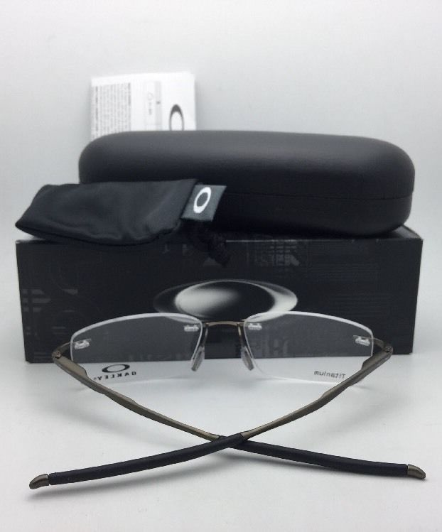2e9f95f6be3 57. 57. Previous. New OAKLEY Eyeglasses WINGSPAN OX5040-0153 53-17 Titanium  Polished Black Frames