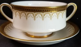 Paragon Athena Gold Border Black Dots Cream Soup/underplate (Multiple Available) - $44.41