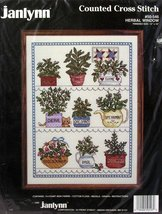 "Janlynn Counted Cross Stitch Kit #50-546 Herbal Window 12""-16"" - $16.81"