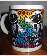 HERSHEY'S MILK CHOCOLATE Coffee Mug Cup Cocoa 1999   Dancing Candy Bar - $23.36