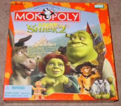 Monopoly Junior Shrek 2 Game 2004 Parker Brothers Complete Excellent - $15.00