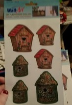 lot of 11 packs of wall art decals bird houses - $8.59