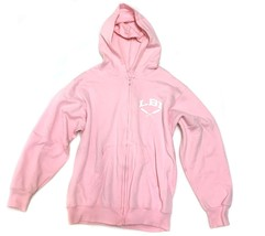 FRUIT OF THE LOOMS Sweatshirt Hooded Hoodie Pink LBI Beach Girls 14 16 - $5.93