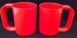 Set of 2 Red Heller MaxMug Massimo Vignelli Mel... - $29.64