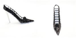 High Heel Black Sequin 8 Ring Display Jewelry Holder - $12.87