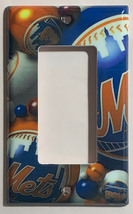 New York NY Mets Baseball Light Switch Power Outlet Wall Cover Plate Home decor image 2