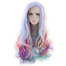"BERON 27"" Long Wavy Multi color Hair Wigs Women or Girls Full Cosplay Pa... - $22.23"