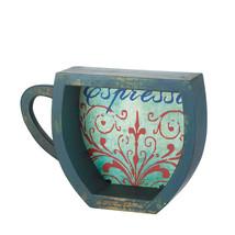 Blue Espresso Coffee Cup Shelf - $58.95