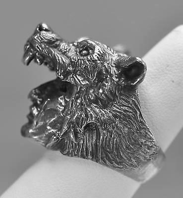 New Wolf Shaman Spirit Tribal spiritual world Real Sterling Silver ring Jewelry