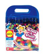 Kids craft Knot-A-Quilt activity Kit with 48 Pieces 9-inch pre-cut squares - $24.74