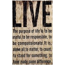 Live Wall Hanging Sign Black, Beige Home Decoration By meijiafei - $18.99