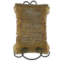 Lord's Prayer Scroll and Easel Table Piece - Tan - $23.00