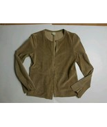 ECRU WOMEN'S PERFORATED SUEDE JACKET SIZE SMALL EUC  - $28.71