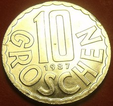 Proof Austria 1987 10 Groschen~Only 42,000 Minted~Imperial Eagle~Free Sh... - $4.74