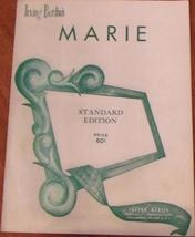 Marie Sheet Music by Irving Berlin 1955 Standard Edition - $3.00