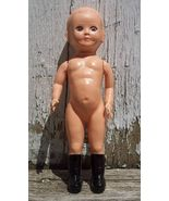 "Plastic Boy Doll England with Sleep Eyes 6.25"" Tall - $5.00"