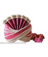 SHERWANI WEDDING PAGRI TURBAN GROOM MEN HAT INDIAN HANDMADE PAG SAFA KCI... - $79.99