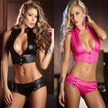 Women Exotic Apparel PU Sexy Lingerie Club Hot Erotic Pole Dancing ITC936. - $39.00