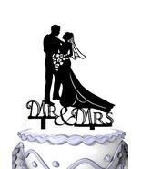 Meijiafei Embracing Bride and Groom Mr & Mrs Wedding Day Cake Topper Silhouette - ₹1,295.20 INR