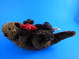 "Aurora Sea Otter Plush Brown with Red Starfish  9"" incl tail - $5.96"