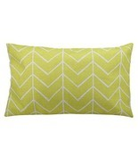 Yellow Wavy Curve-Linen Cotton Throw Pillow Case Rectangle Cushion Cover... - ₨550.89 INR