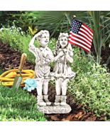 """Patriotic Flag Children"" Statue - $40.51"