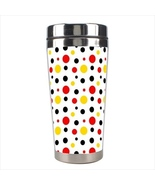 Multi Color Dots Stainless Steel Travel Tumbler - $16.99