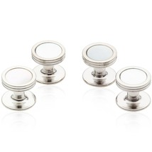 Cuff-Daddy Mother of Pearl Studs silver-Tone - $29.99