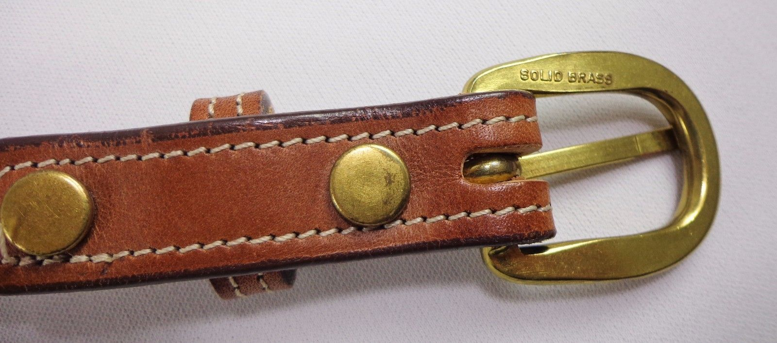 Tory English Bridle Leather Womens Belt Size 30 Made in the USA