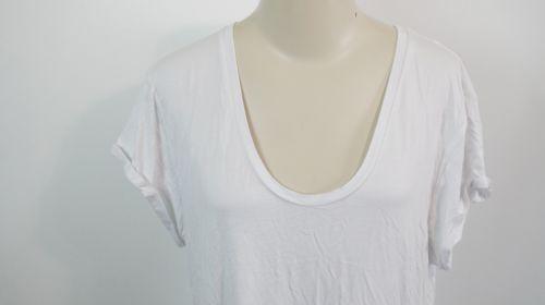L'AGENCE | Gathered Back Jersey T-Shirt Dress women's sz L - $125 white L6965RSJ image 3