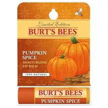 Burt's Bees Pumpkin Spice Moisturizing Lip Balm Limited Edition .15 Oz - $6.88