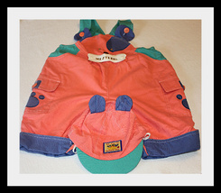 WE DESINGS BOYS 2PC DOG OVERALL SET SIZE 12 MONTHS - $9.27